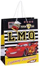 Торбичка за подарък - МакКуин Светкавицата - Размери 26 x 32 cm - количка