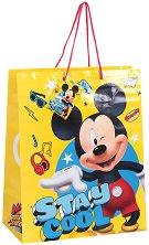 Торбичка за подарък - Мики Маус - Размери 26 x 32 cm - количка