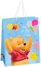 Торбичка за подарък - Мечо Пух - Размери 26 x 32 cm - раница