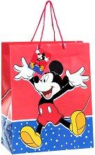 Торбичка за подарък - Мики Маус - Размери 26 x 32 cm -