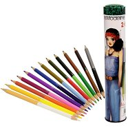 """Двустранни моливи - Комплект от 12 двуцветни молива  от серията """"Miss Modeline"""""""