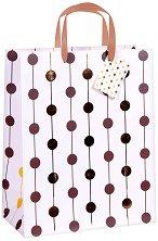 Торбичка за подарък - Големи точки - Размери 26.5 x 34 cm -