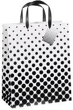 Торбичка за подарък - Черни точки - Размери 26.5 x 34 cm -