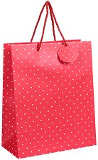 Торбичка за подарък на точици - Размери 26.5 x 34 cm -