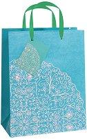 Торбичка за подарък - Цветя - Размери 17.5 x 22.5 cm - продукт