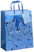 Торбичка за подарък - Цветя - Размери 18 x 23 cm -