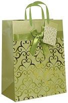 Торбичка за подарък - Сърца - Размери 18 x 23 cm -
