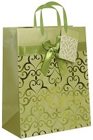 Торбичка за подарък - Сърца - Размери 18 x 23 cm - чанта