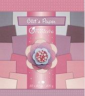 Блестящи хартии за скрапбукинг - Розов меланж - Комплект от 18 листа с размери 20 x 20 cm