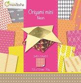 Хартия за оригами - Neon - Комплект от 240 листа с размер 7.5 х 7.5 cm