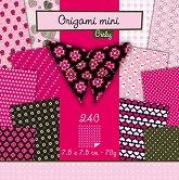 Хартия за оригами - Girly - Комплект от 240 листа с размер 7.5 х 7.5 cm