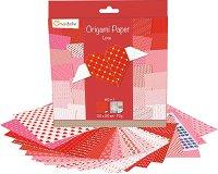 Хартия за оригами - Love - Комплект от 60 листа с размер 20 х 20 cm