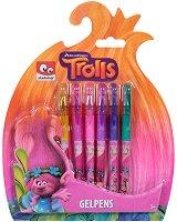 Гел химикалки - Тролчетата - Комплект от 6 цвята