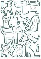 Стикери за оцветяване - Котки и кучета - Комплект от 100 броя стикери