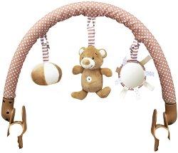 Арка с висящи играчки - Bear Boo - За детска количка или кошче за кола - играчка