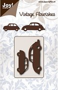 Щанци за машина за изрязване и релеф - Ретро автомобили - Комплект от 2 броя