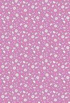 Картон за скрапбукинг - Маргаритки на розов фон - Формат А4