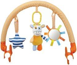 Арка с висящи играчки - Raffy Giraffe - За детска количка или кошче за кола - играчка