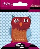 Самозалепващи листчета - Бухал - Кубче от 50 листчета