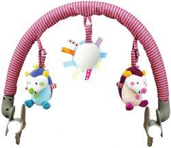Арка с висящи играчки - Hedge the Hog - За детска количка или кошче за кола -
