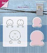 Щанци за машина за изрязване и релеф - Бебе - Комплект със силиконови печати