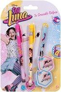 Изтриваеми цветни гел химикалки с гума - Soy Luna