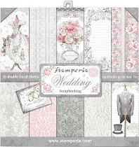 Хартии за скрапбукинг - Wedding - Комплект от 10 броя