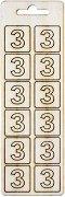 Формички от шперплат - Буква З - Комплект от 12 броя с размер 2 cm