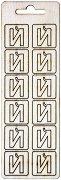 Формички от шперплат - Буква Й - Комплект от 12 броя с размер 2 cm
