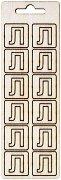 Формички от шперплат - Буква Л - Комплект от 12 броя с размер 2 cm