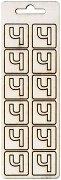 Формички от шперплат - Буква Ч - Комплект от 12 броя с размер 2 cm
