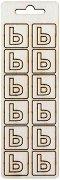Формички от шперплат - Буква ь - Комплект от 12 броя с размер 2 cm