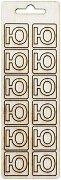 Формички от шперплат - Буква Ю - Комплект от 12 броя с размер 2 cm