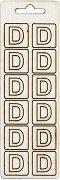 Формички от шперплат - Буква D - Комплект от 12 броя с размер 2 cm