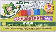Цветни квадратни тебешири - Комплект от 12 броя