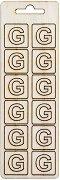 Формички от шперплат - Буква G - Комплект от 12 броя с размер 2 cm