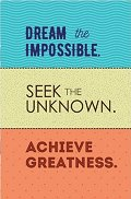 Тефтерче - Dream the impossible. Seek the unknown. Achieve greatness.
