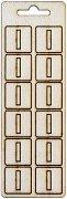 Формички от шперплат - Буква I - Комплект от 12 броя с размер 2 cm