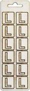 Формички от шперплат - Буква L - Комплект от 12 броя с размер 2 cm