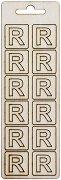 Формички от шперплат - Буква R - Комплект от 12 броя с размер 2 cm