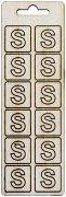 Формички от шперплат - Буква S - Комплект от 12 броя с размер 2 cm