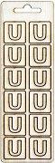 Формички от шперплат - Буква U - Комплект от 12 броя с размер 2 cm