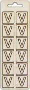 Формички от шперплат - Буква V - Комплект от 12 броя с размер 2 cm