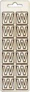 Формички от шперплат - Буква W - Комплект от 12 броя с размер 2 cm