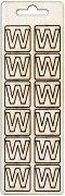 Формички от шперплат - Буква W