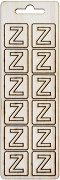 Формички от шперплат - Буква Z - Комплект от 12 броя с размер 2 cm
