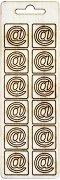 Формички от шперплат - Символ @ - Комплект от 12 броя с размер 2 cm