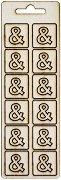 Формички от шперплат - Символ & - Комплект от 12 броя с размер 2 cm