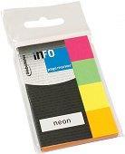 Самозалепващи неонови индекси - Комплект от 4 цвята по 50 листчета