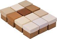 Кутийки от картон - Куб - Комплект от 12 броя за декориране